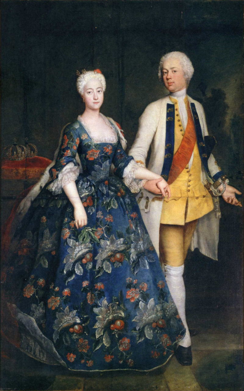Princess Sophia Dorothea with her husband Frederick William