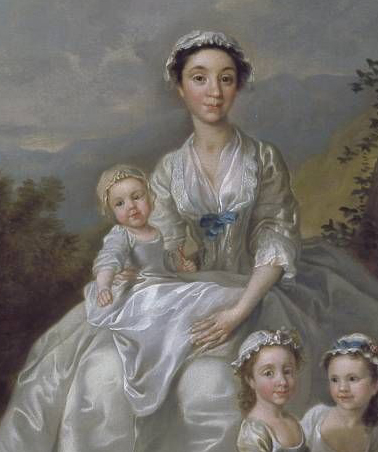 Detail of Samuel Richardson, the Novelist (1684-1761), Seated, Surrounded by his Second Family