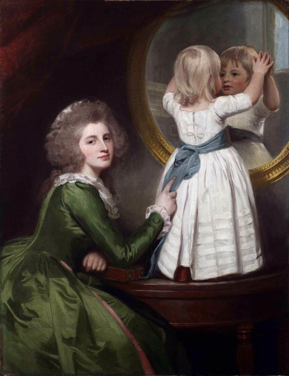 Lady Anne Barbara Russell and her son