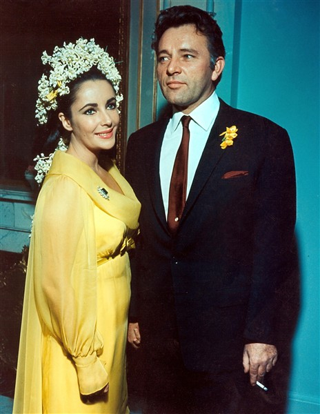 Elizabeth Taylor and Richard Burton on their wedding day