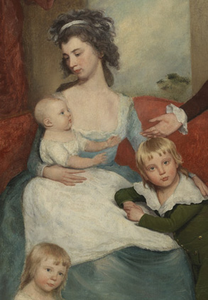 Detail from The Wright Family