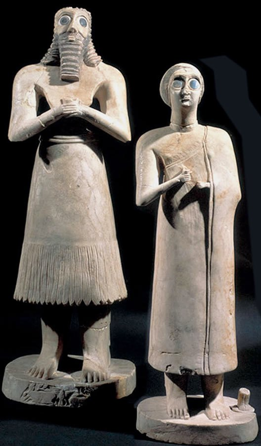 Statues from Tell Asmar, Iraq