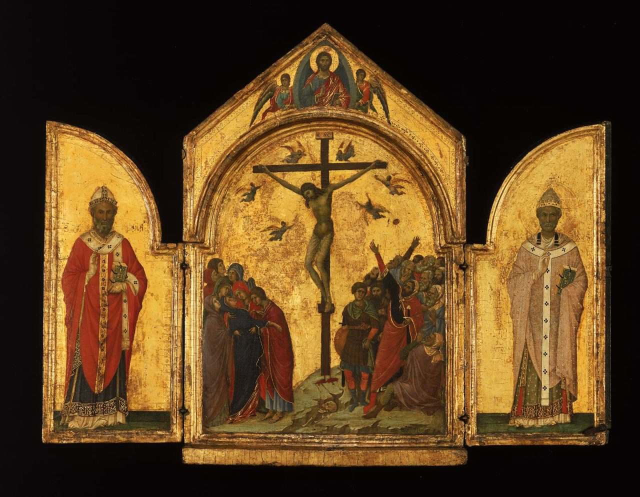 The Crucifixion; the Redeemer with Angels; Saint Nicholas; Saint Gregory