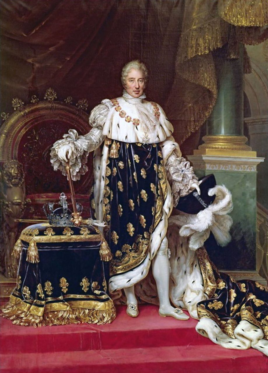 Portrait of the King Charles X of France in his coronation robes