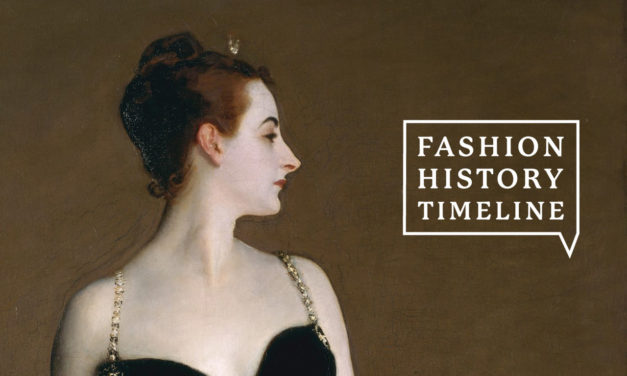 Welcome!  What is the Fashion History Timeline?