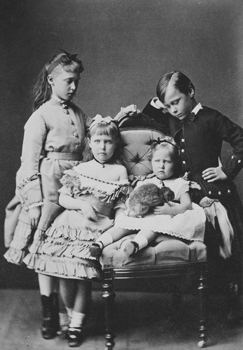 Prince Ernest Louis, and Princesses Irene, Alix, and Marie of Hesse
