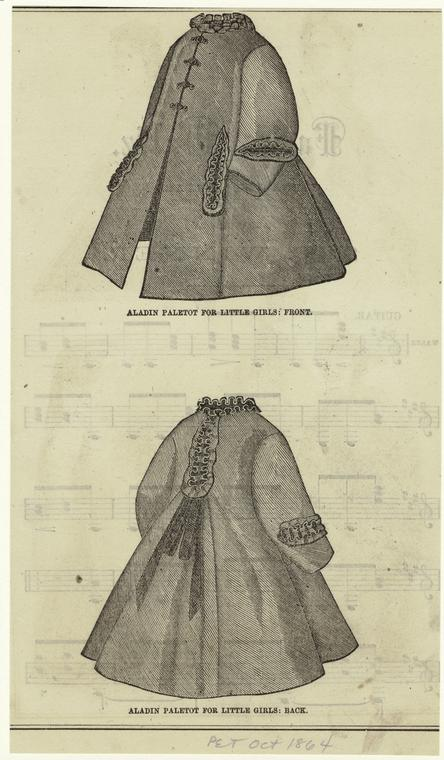 Girl's Coat, Front And Back, 1860s