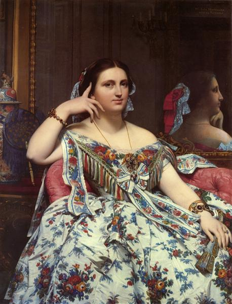 Portrait of Madame Moitessier Sitting