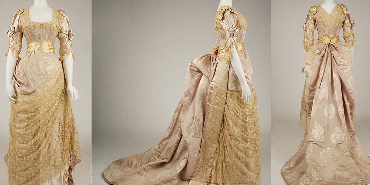 1887-1889 – Jean-Philippe Worth, Evening dress