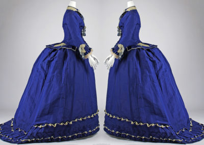 1874 – Amédée François, Blue silk afternoon dress
