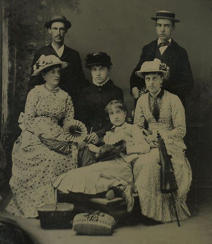 Victorian Group of Young Men and Women