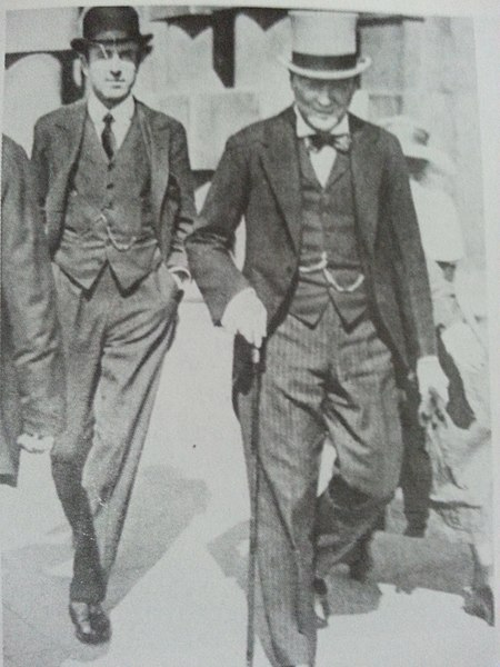 Winston Churchill and his cousin Lord Londonderry