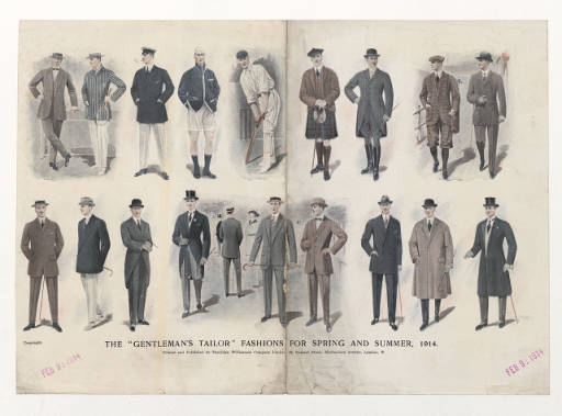 The Gentleman's Tailor, Fashions for Spring and Summer