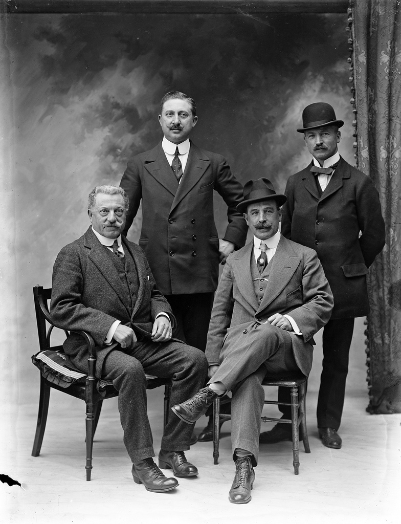A group of four men from the Imperial Hotel, The Mall, Waterford.