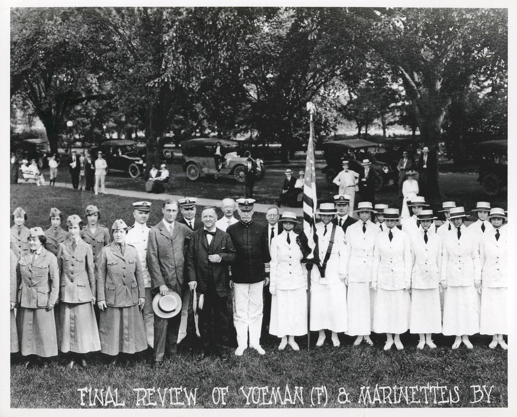 Final Review of Marine Reservists and Navy Yeoman, 1919