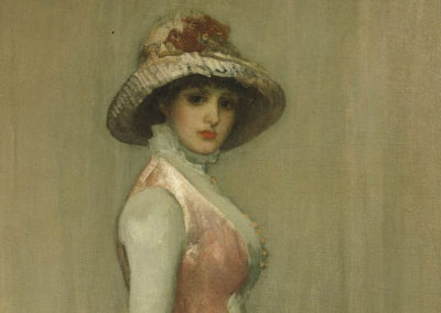 1881 – James Abbott McNeill Whistler, Harmony in Pink and Gray: Portrait of Lady Meux