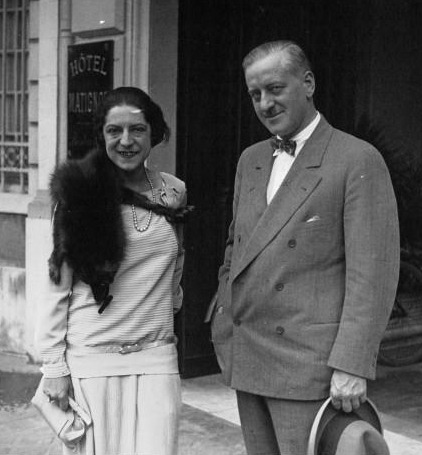 French tennis player Suzanne Lenglen with her manager Charles C. Pyle (1882-1939) in 1926