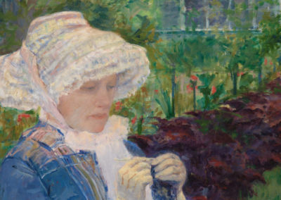 1880 – Mary Cassatt, Lydia Crocheting in the Garden at Marly