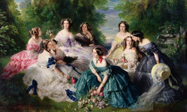 1855 – Franz-Xaver Winterhalter, The Empress Eugénie Surrounded by her Ladies-in-Waiting