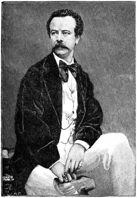 Engraved portrait of Charles Frederick Worth, fashion designer, aged 30