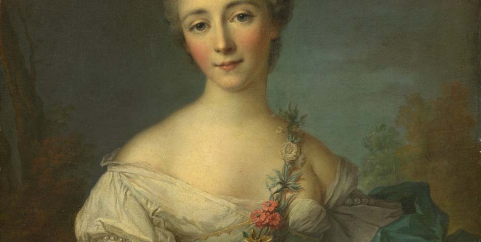 1750 – Jean-Marc Nattier, Portrait of a Young Woman