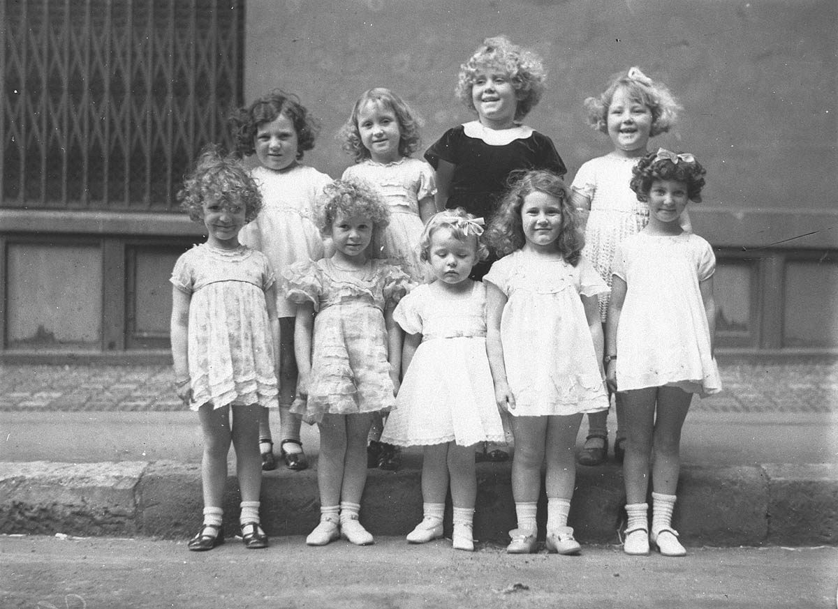 Nine girls in a Fox Films and Daily Telegraph Shirley Temple look-alike contest