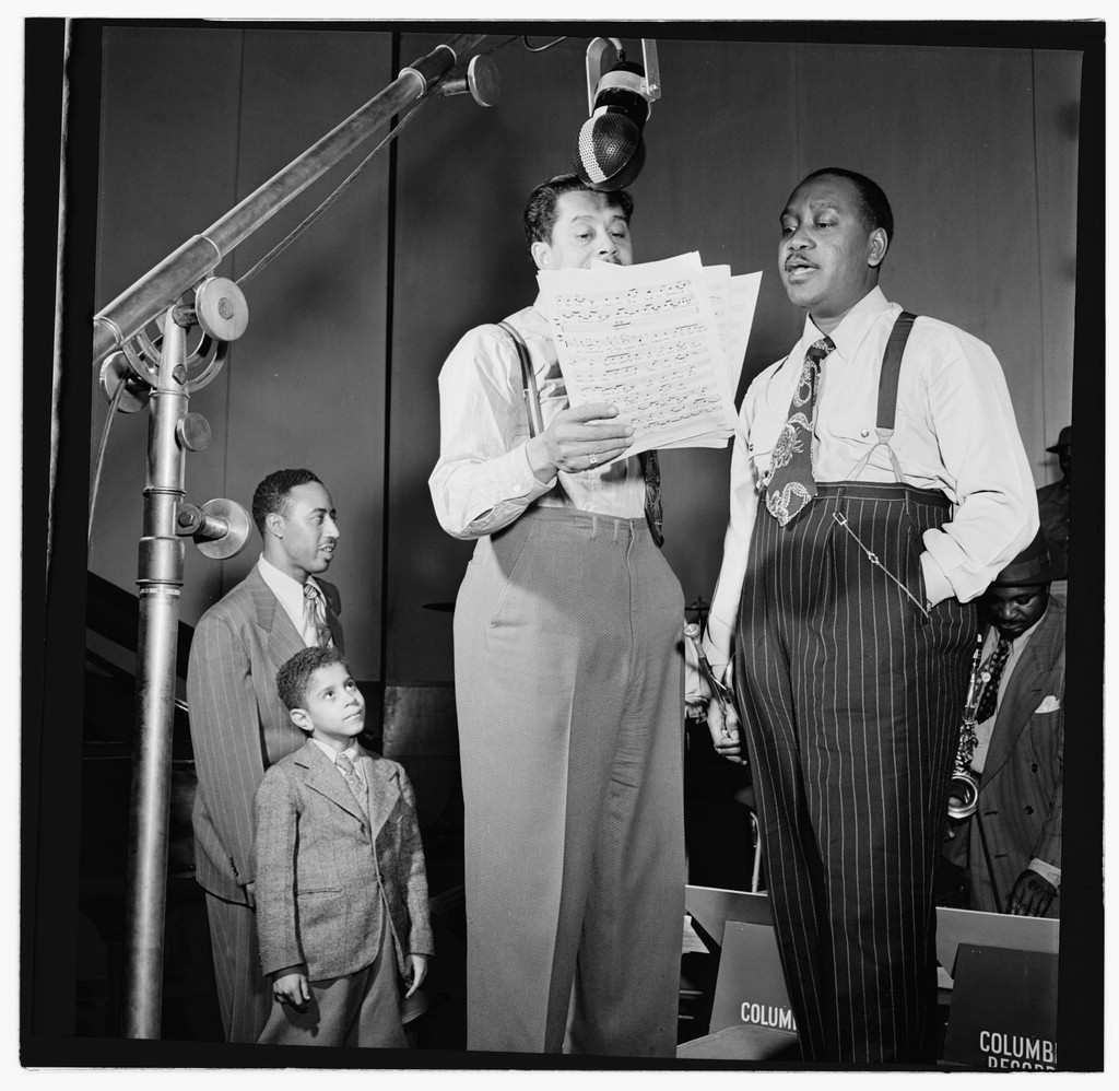 Portrait of Jonah Jones and Cab Calloway, Columbia studio, New York, N.Y., ca. Mar. 1947