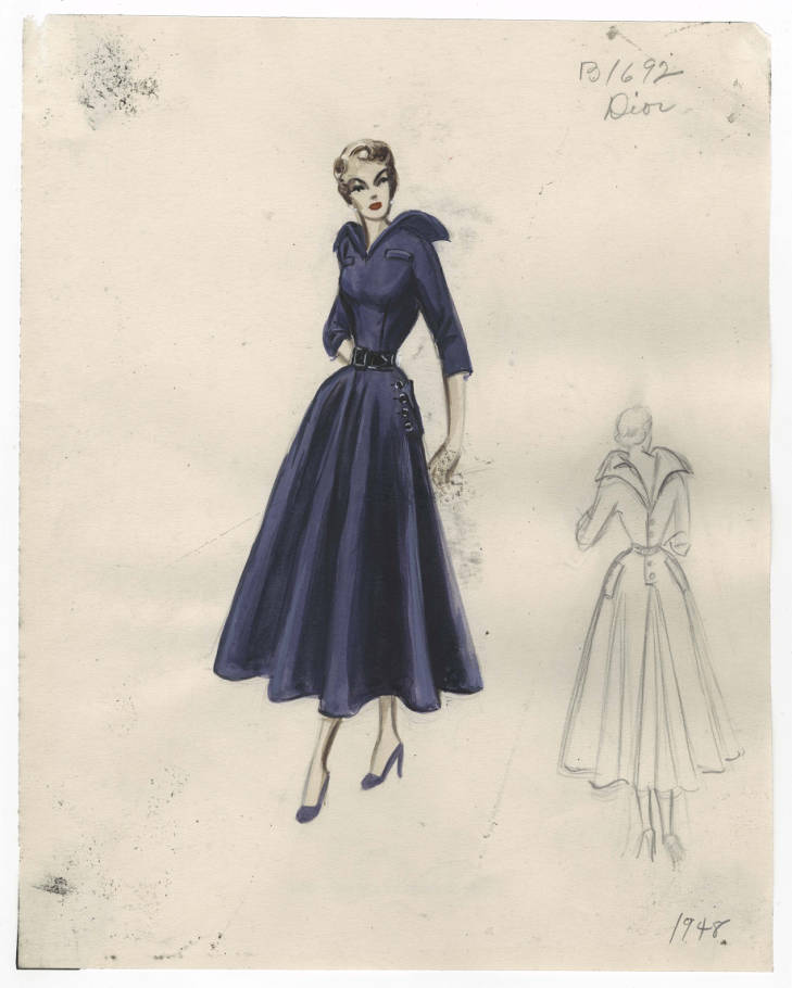 Bergdorf Goodman sketches : Dior 1947-1949
