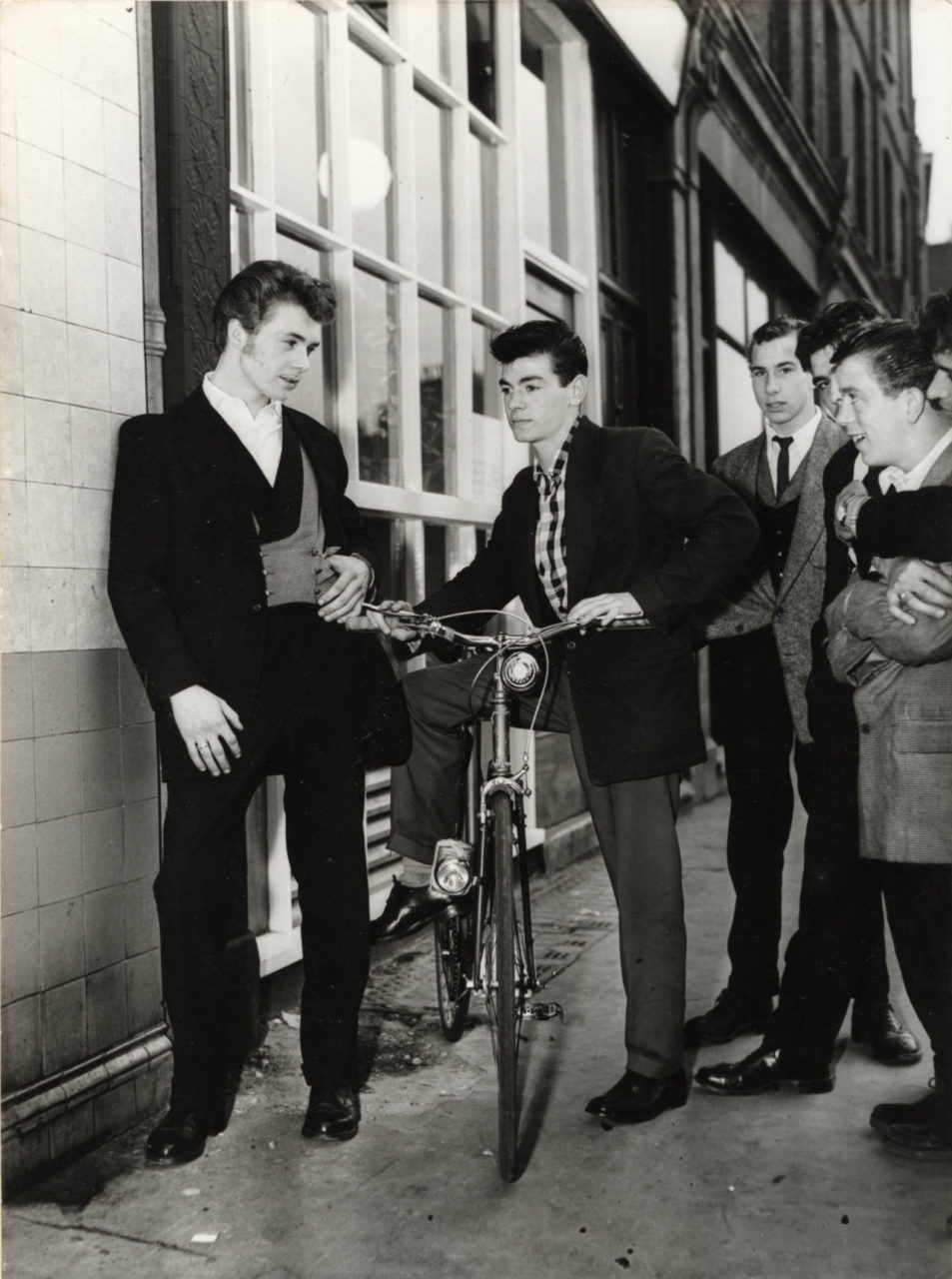 Teddy Boys Outside Elephant and Castle teen canteen
