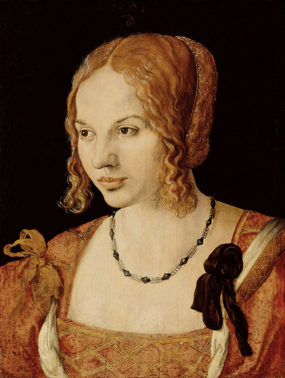 Half-length portrait of a young Venetian woman