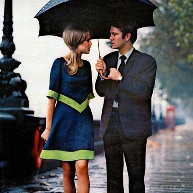 A Stylish Couple in the Rain in London
