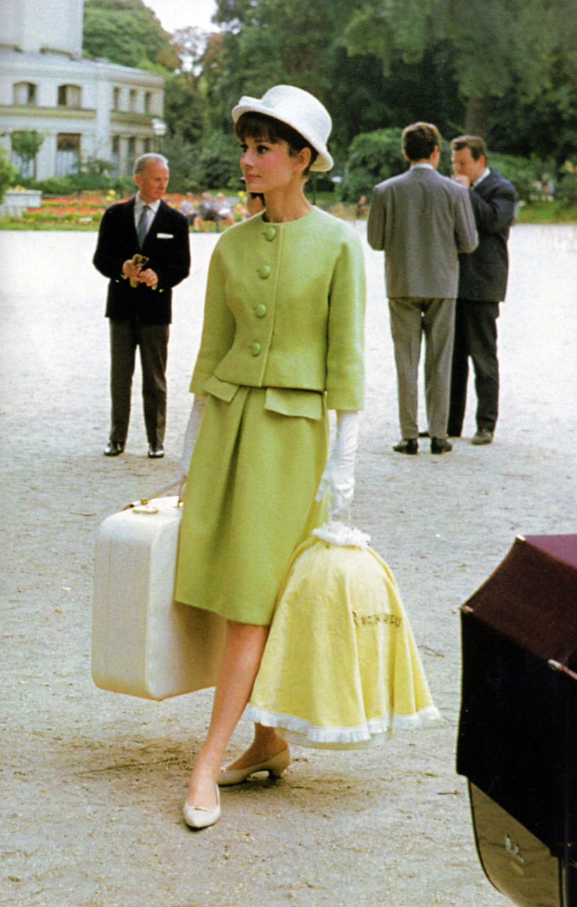 "Audrey Hepburn in a Givenchy suit, ""Paris When it Sizzles"""