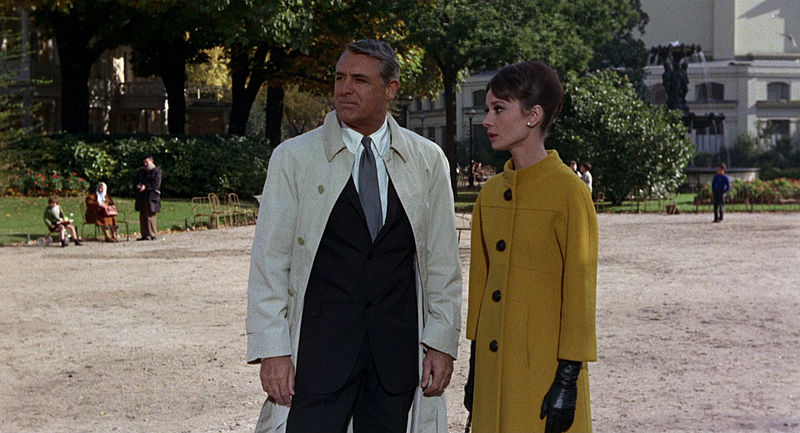 A screenshot from the film Charade
