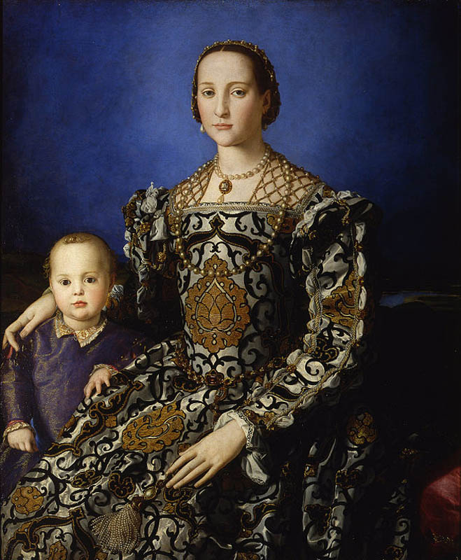 Portrait of Eleonora of Toledo with her son Giovanni de Medici