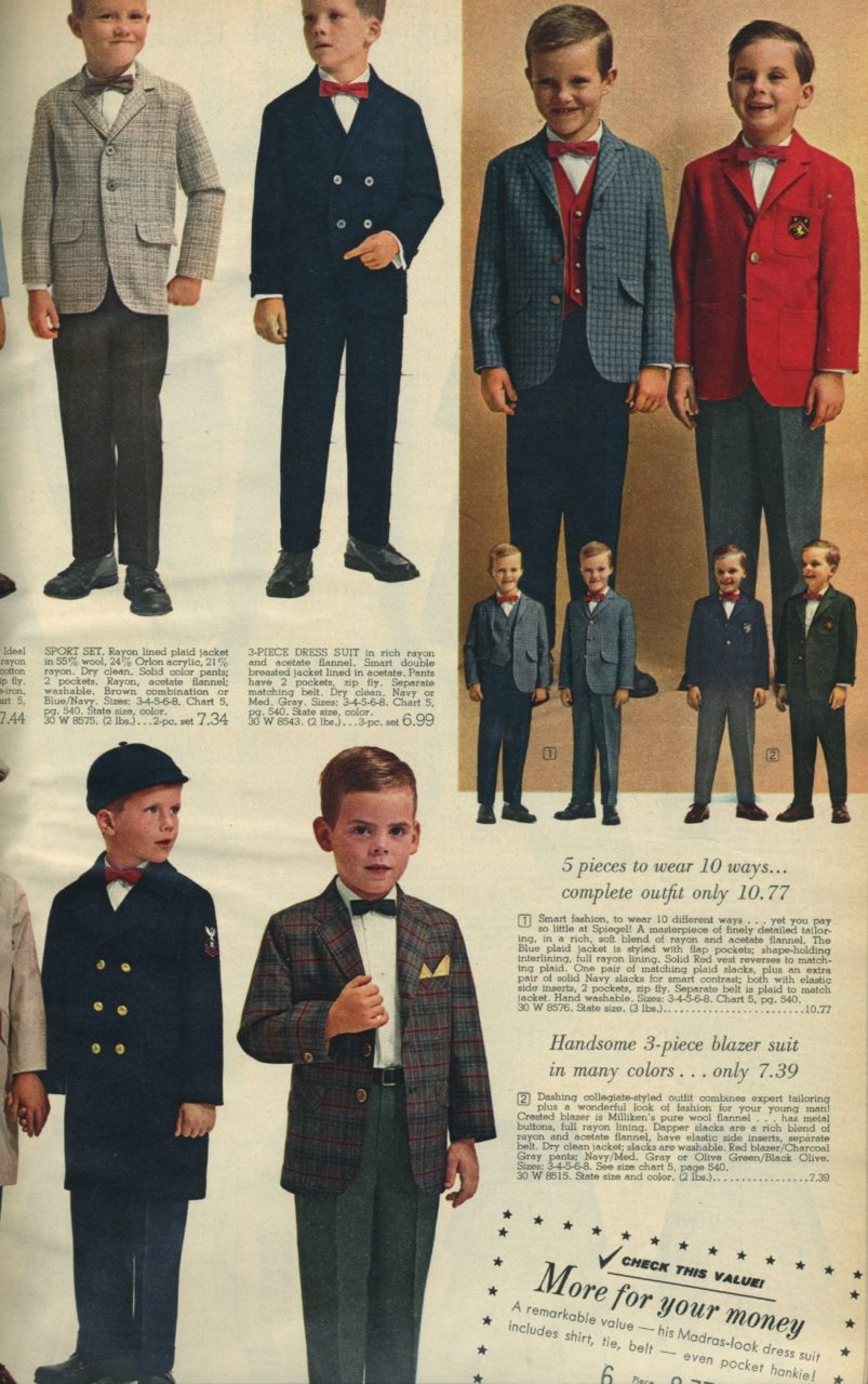 Spiegel 1963 boy's suits and sport coats