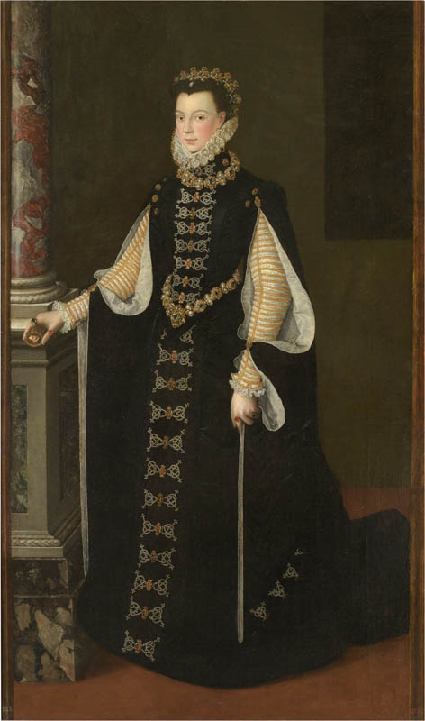 Elisabeth of Valois holding a portrait of Philip II