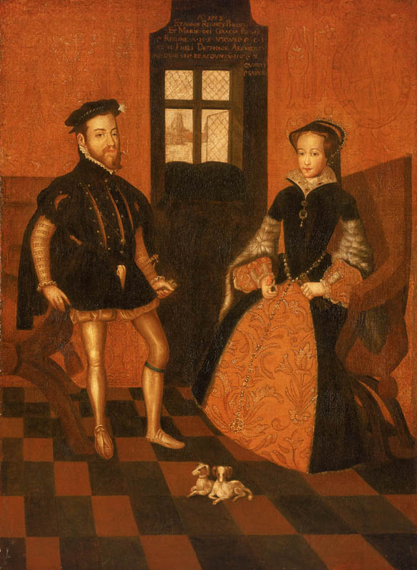 Mary I of England, 1516-58 and Philip II of Spain, 1527-98