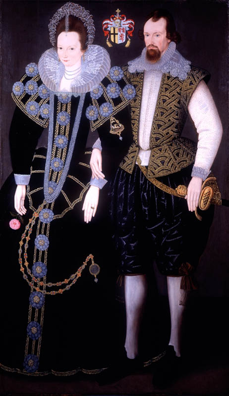 Sir Reginald Mohun, 1st Baronet (c1564–1639) of Boconnoc, MP, and his 3rd wife Dorothy Chudleigh