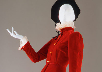 1938 – Gabrielle Chanel, Red velvet suit