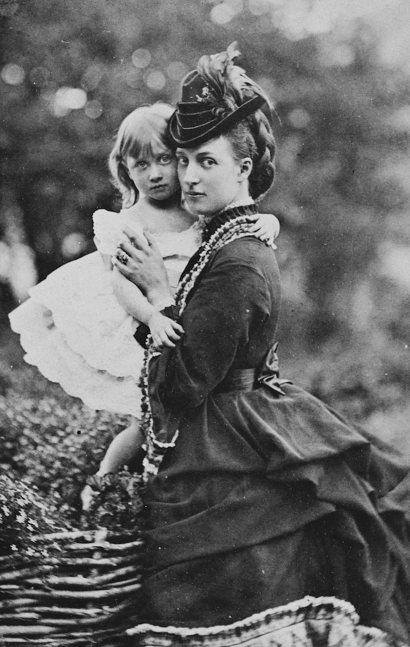 Alexandra, Princess of Wales, with Princess Louise