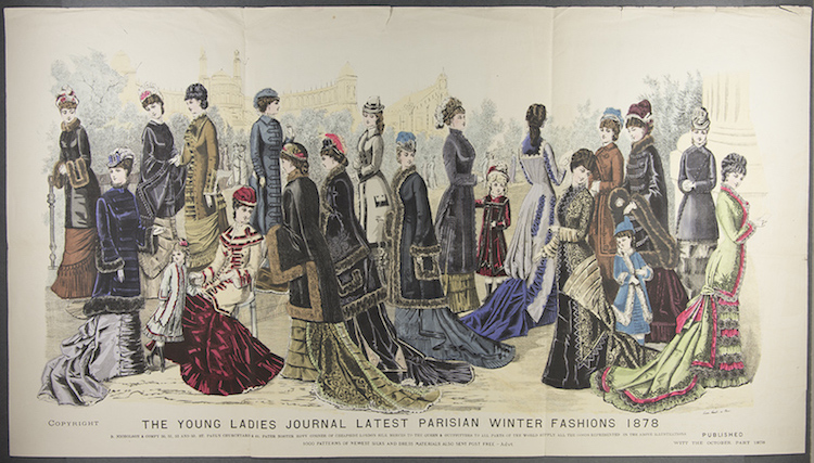 The Young Ladies Journal: Latest Parisian Winter Fashions