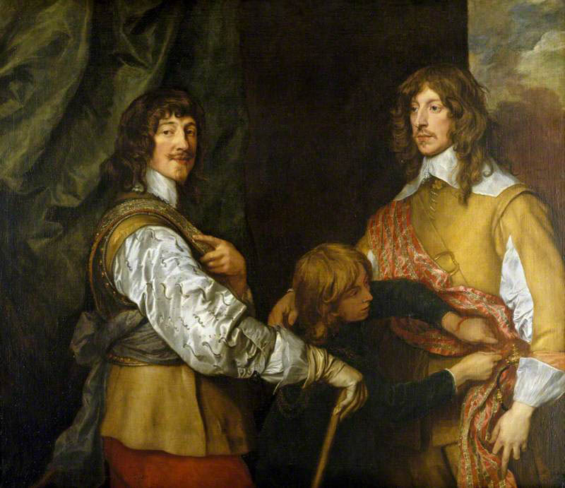 Mountjoy Blount, 1st Earl of Newport, Lord George Goring, and a Page