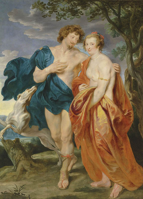 Double portrait of George Villiers, Marquess and his wife Katherine Manners, as Venus and Adonis
