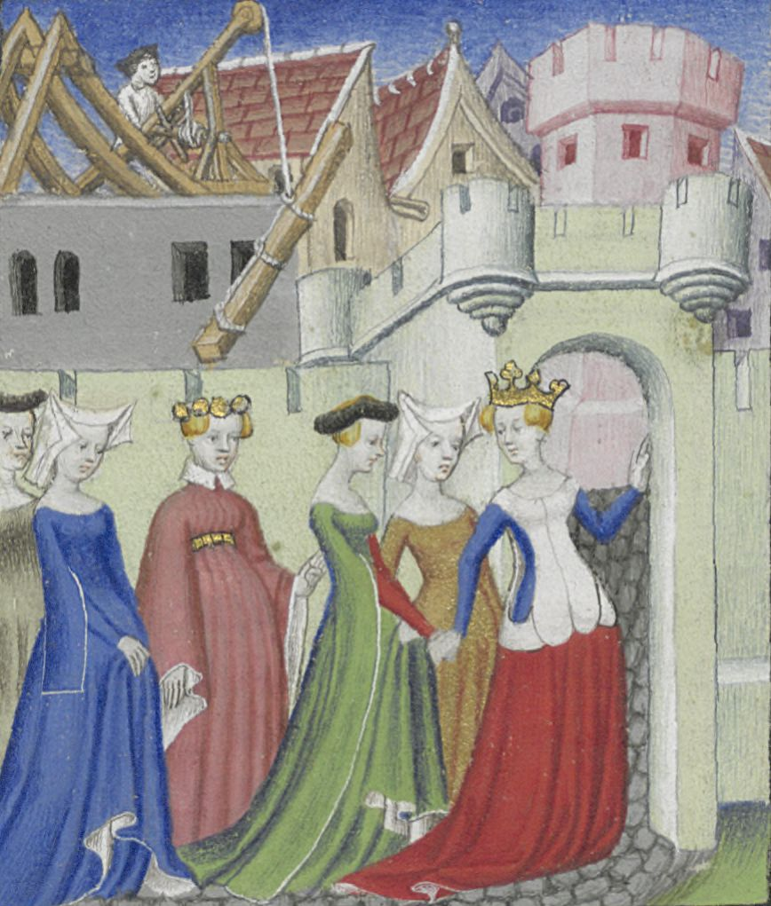 """Reason Leads Five Sibyls into the City of Ladies,"" Cité des Dames by Christine de Pizan"