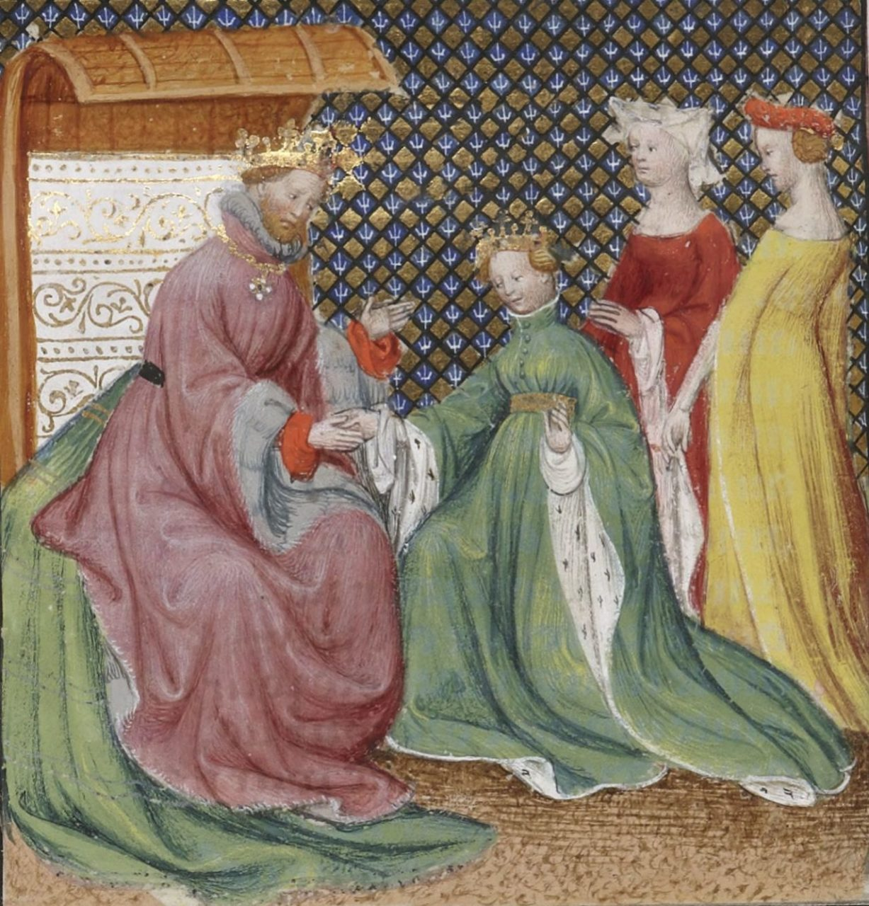 """Solomon Receiving the Queen of Sheba,"" Grande Bible historiale"