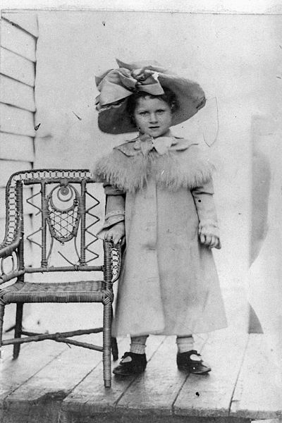 Portrait of Marjory Bryson as a little girl, Queensland