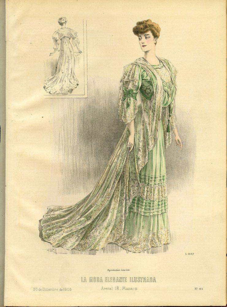 Fashion plate from La Moda Elegante Ilustrada, December 30, 1905