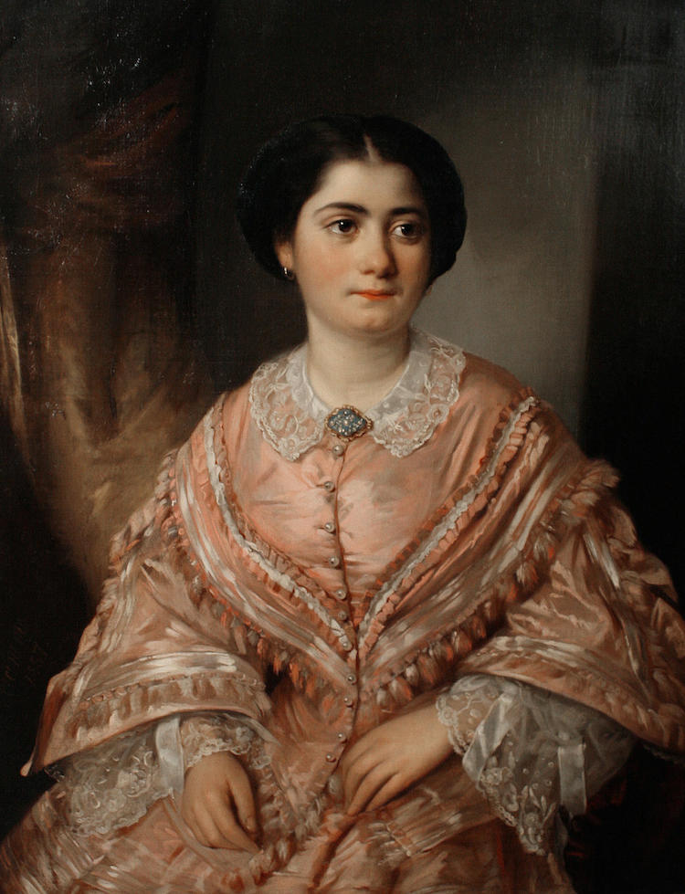 Portrait of a Young Woman, Seated, Wearing a Pink dress