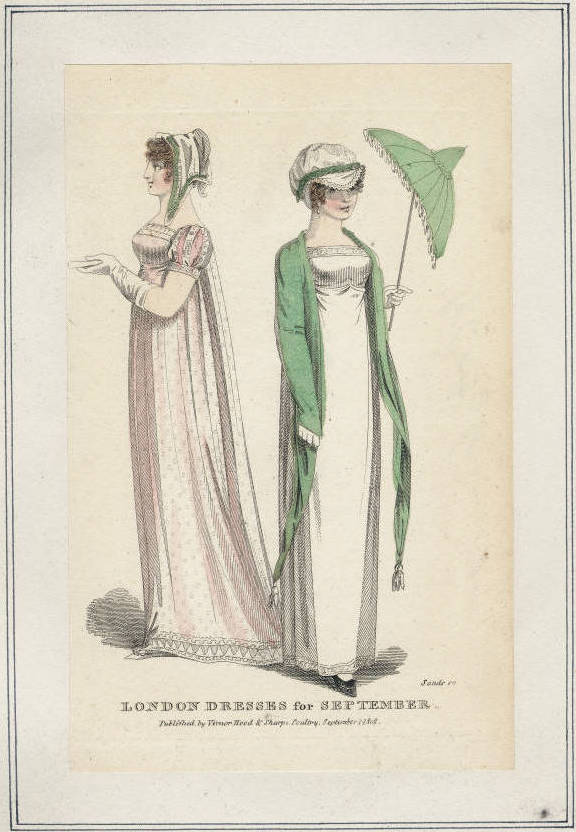 "Fashion Plate: ""London Dresses for September"" for ""Ladies Museum"""