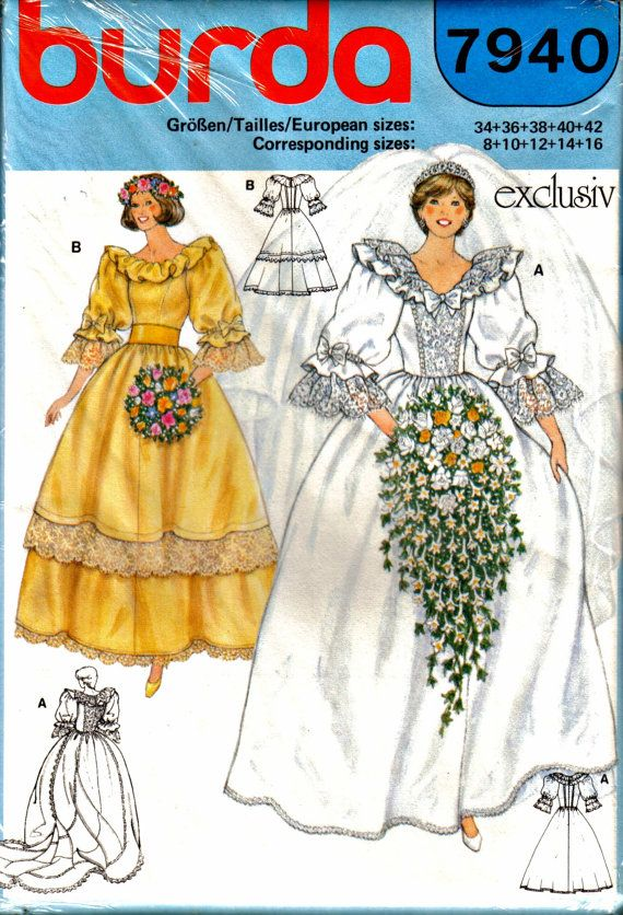 Lady Diana's Wedding Gown dress Sewing Pattern